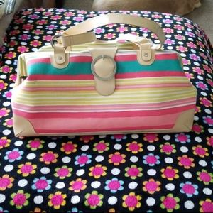 Bath & Body Works cotton and leather weekender bag